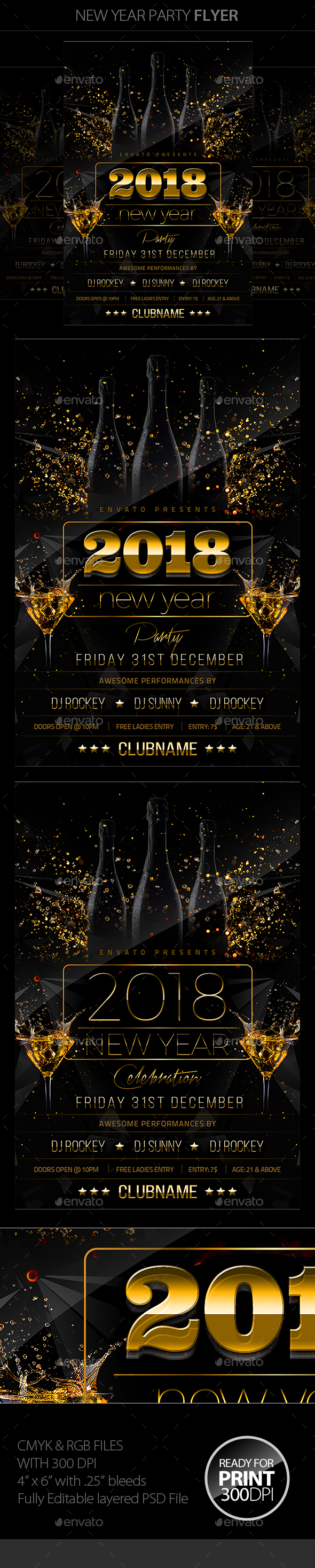 NYE Flyer - Clubs & Parties Events