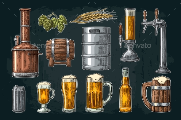 GraphicRiver Beer Set 20894084