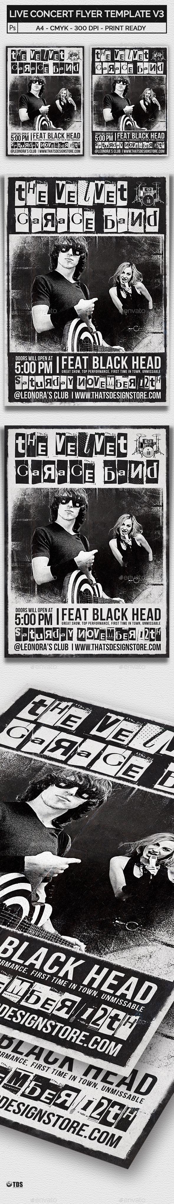 Live Concert Flyer Template V3 - Concerts Events