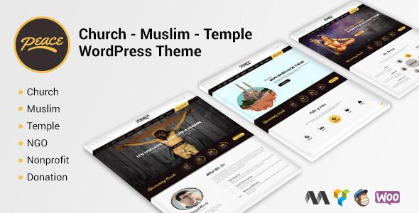Peace - Church / Muslims / Temple WordPress Theme - Nonprofit WordPress