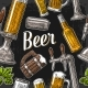Seamless Pattern of Beer