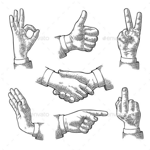 GraphicRiver Male Hand Signs 20894118