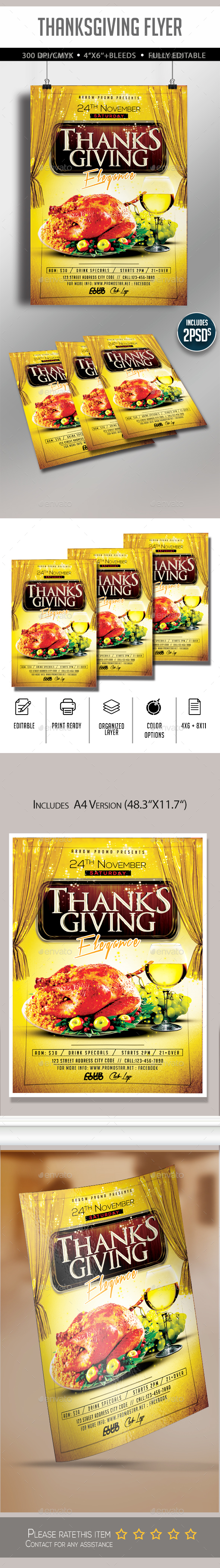 GraphicRiver Thanksgiving Party Flyer 20894132