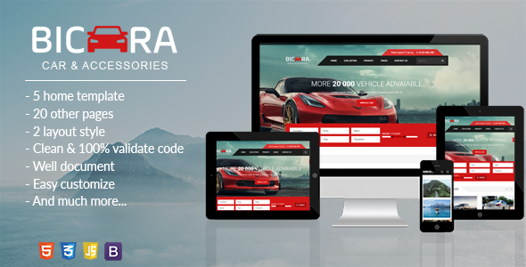 ThemeForest BICARA Car Dealer HTML Template 20190933