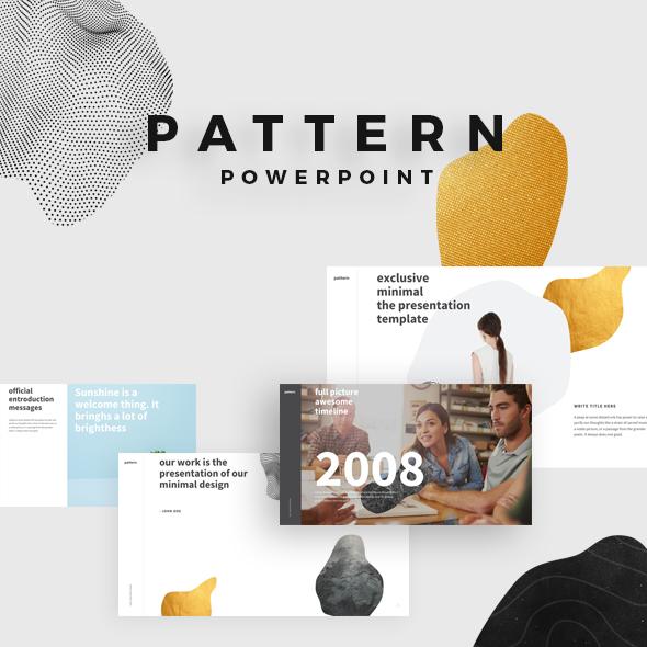 Pattern Minimal Powerpoint - PowerPoint Templates Presentation Templates