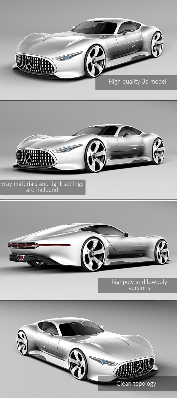 3DOcean Mercedes Vision Gran Turismo Concept 20894156