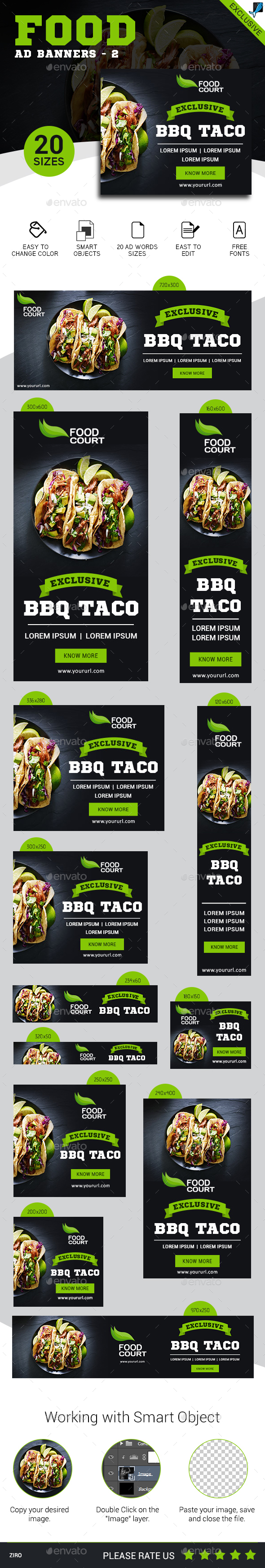 Food Banners - Banners & Ads Web Elements