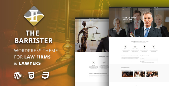 ThemeForest The Barrister Lawyers & Attorneys WordPress Theme 20573988