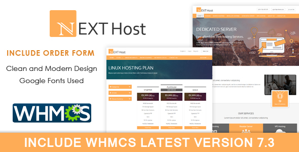 ThemeForest Next Host WHMCS Domain Hosting Template 20598939