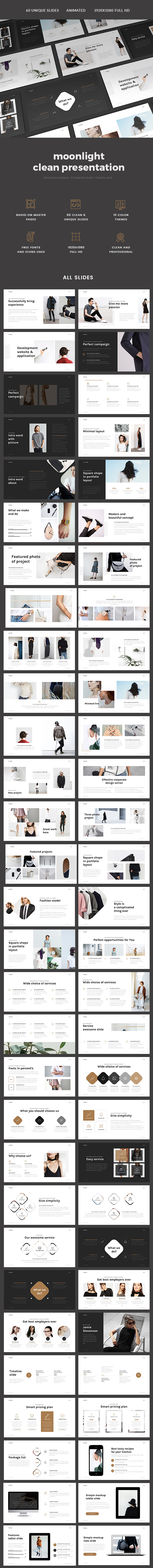 Minimal Fashion Presentation - PowerPoint Templates Presentation Templates