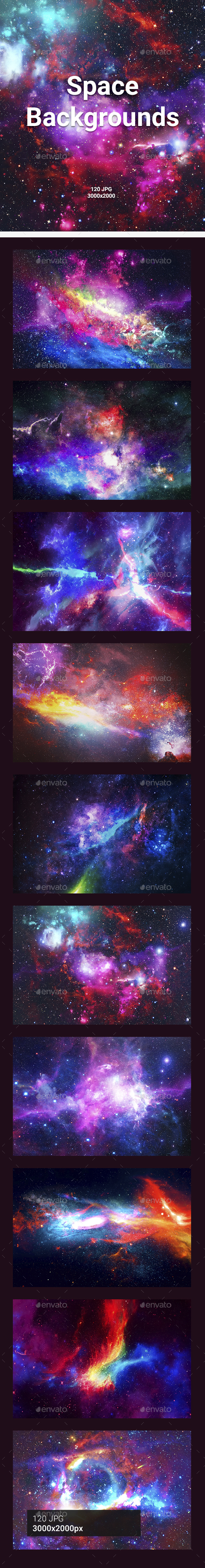 GraphicRiver 120 Space Backgrounds 20894486