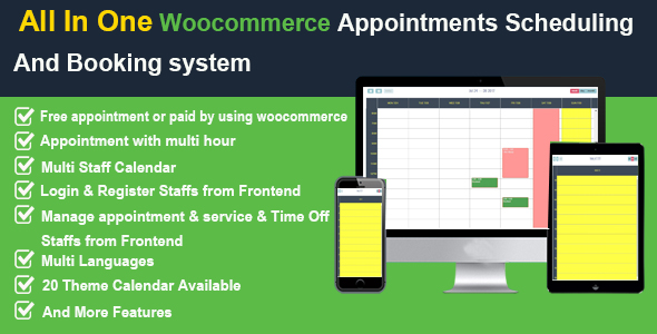 All In One Woocommerce Appointments Scheduling And Booking system v2.7 - CodeCanyon Item for Sale