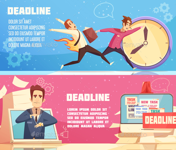 GraphicRiver Business Work Deadline Horizontal Banners 20894655
