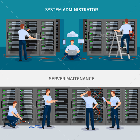 GraphicRiver Server Maintenance Banners Set 20894670
