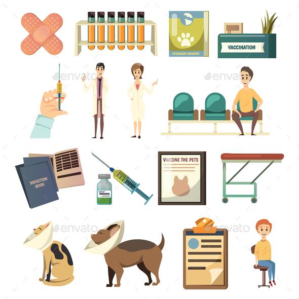 GraphicRiver Compulsory Vaccination Orthogonal Icons Set 20894689
