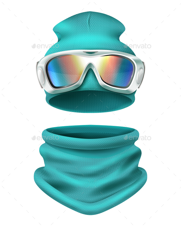 GraphicRiver Ski Suit Composition 20894702