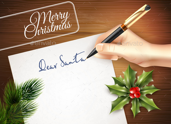 Christmas Letter Illustration - Seasons/Holidays Conceptual