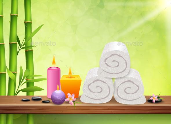 Spa Realistic Background - Health/Medicine Conceptual