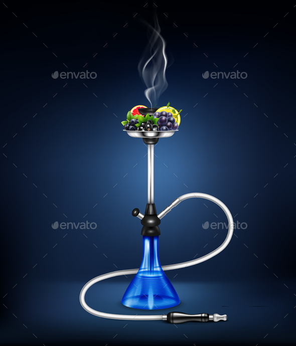 GraphicRiver Realistic Hookah Fruit Composition 20894785