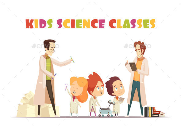 GraphicRiver Kids Science Classes Design Concept 20894790