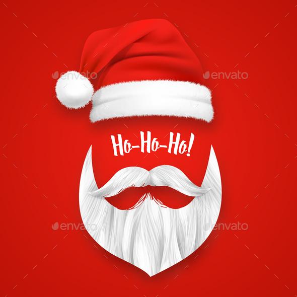 Realistic Santa Claus Christmas Mask - Christmas Seasons/Holidays
