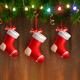 Three Red Christmas Stockings
