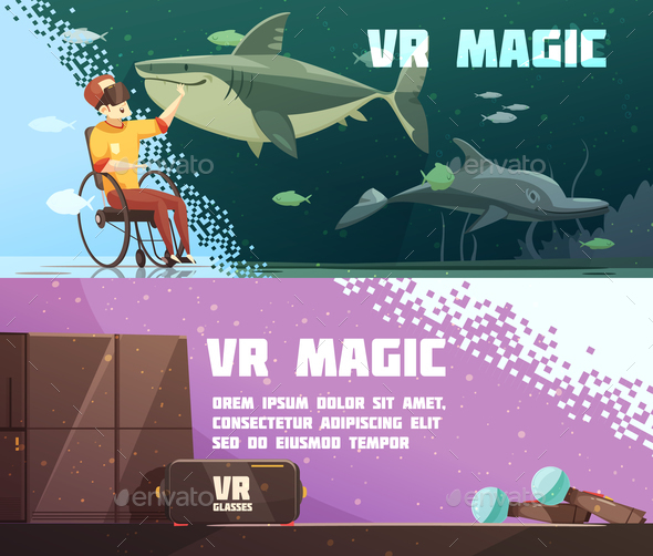 GraphicRiver Virtual Reality Experience Horizontal Banners 20894914