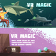 Virtual Reality Experience Horizontal Banners