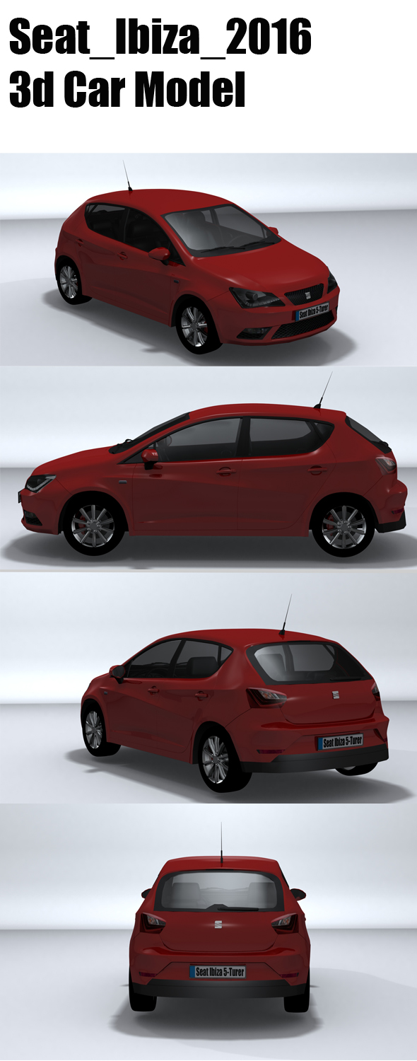 Seat_Ibiza_2016 - 3DOcean Item for Sale