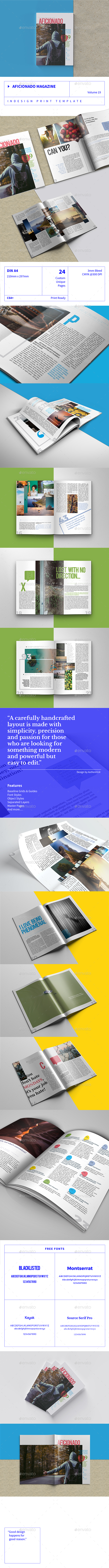 GraphicRiver Aficionado Magazine Volume 19 20895017