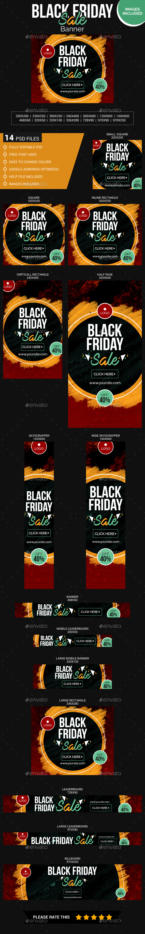 Black Friday Sale Banner - Banners & Ads Web Elements