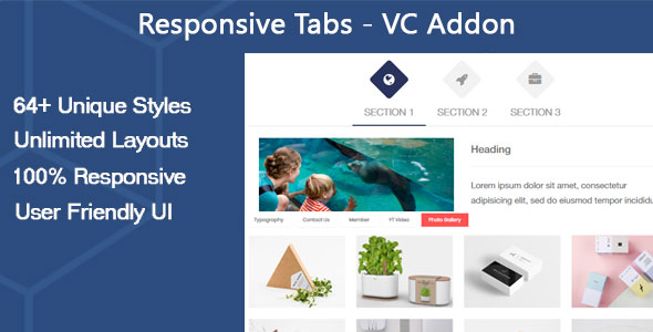 Responsive Tabs - VC Addon - CodeCanyon Item for Sale
