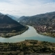 . View From Jvari Monastery on the City Mtskheta and Confluence of the Aragvi and Kura Rivers - VideoHive Item for Sale