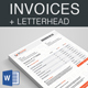 Content Marketing Invoices + Letterhead - GraphicRiver Item for Sale