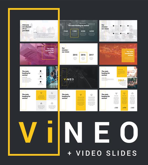 Vineo Pitch Deck Video Slide Powerpoint - Creative PowerPoint Templates