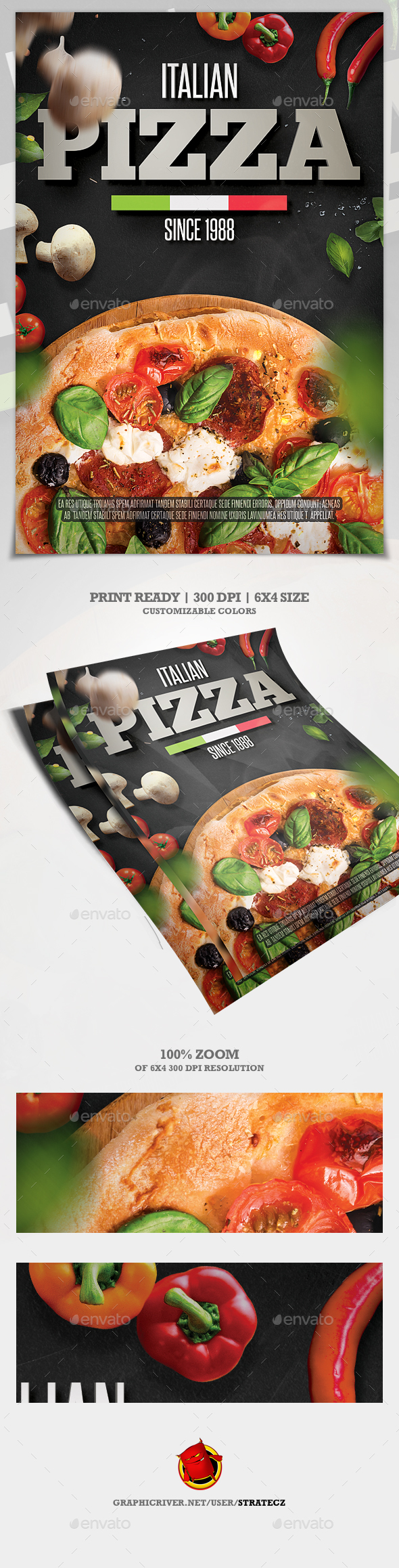 GraphicRiver Pizza Flyer Pizza Menu 20895782