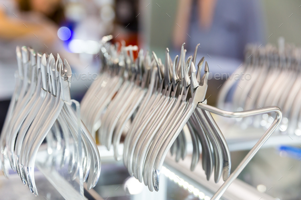 Medicine equipment, dental devices macro view - Stock Photo - Images