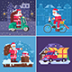 Christmas Gift Delivery Concept Scenes - GraphicRiver Item for Sale