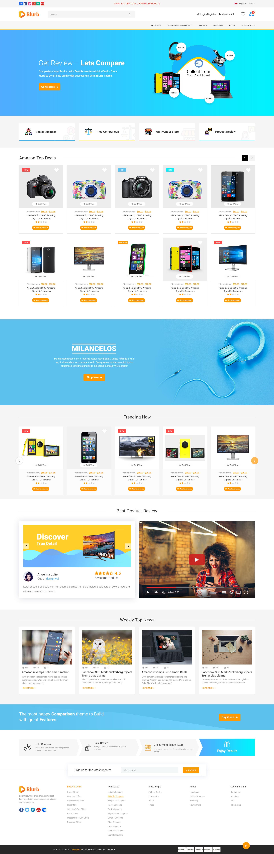 Blurb Price Comparison Affiliate Website Multi vendor Store – Product Review Template