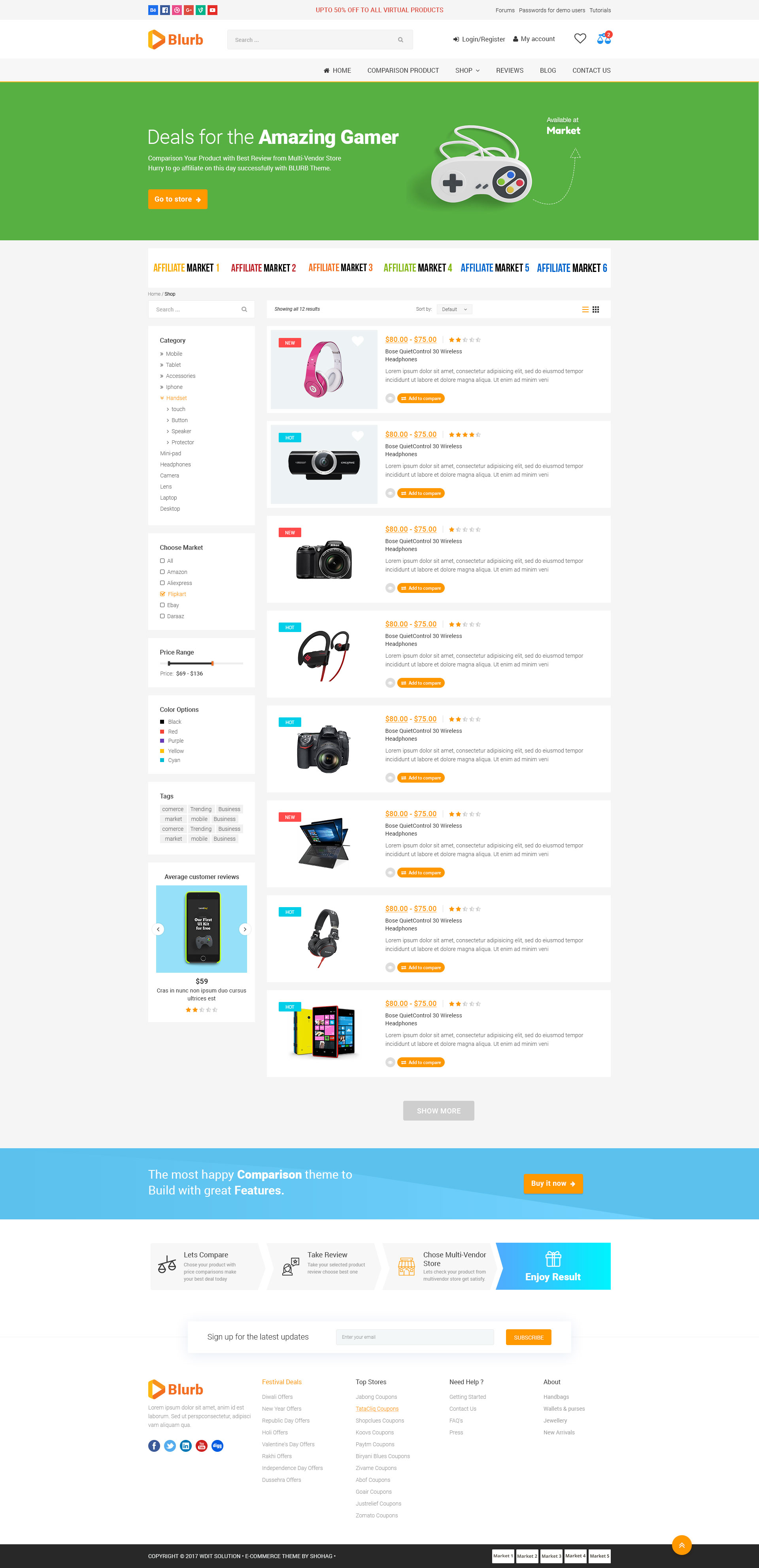 Blurb - Price Comparison, Affiliate Website, Multi vendor Store and ...