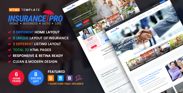 Insurance Pro - Ultimate Template for Insurance Agency - Corporate Site Templates