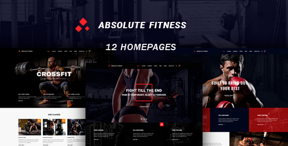 Absolute Fitness - multipurpose WordPress theme