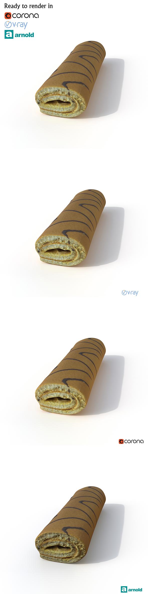 3DOcean Roll Cake 20896418