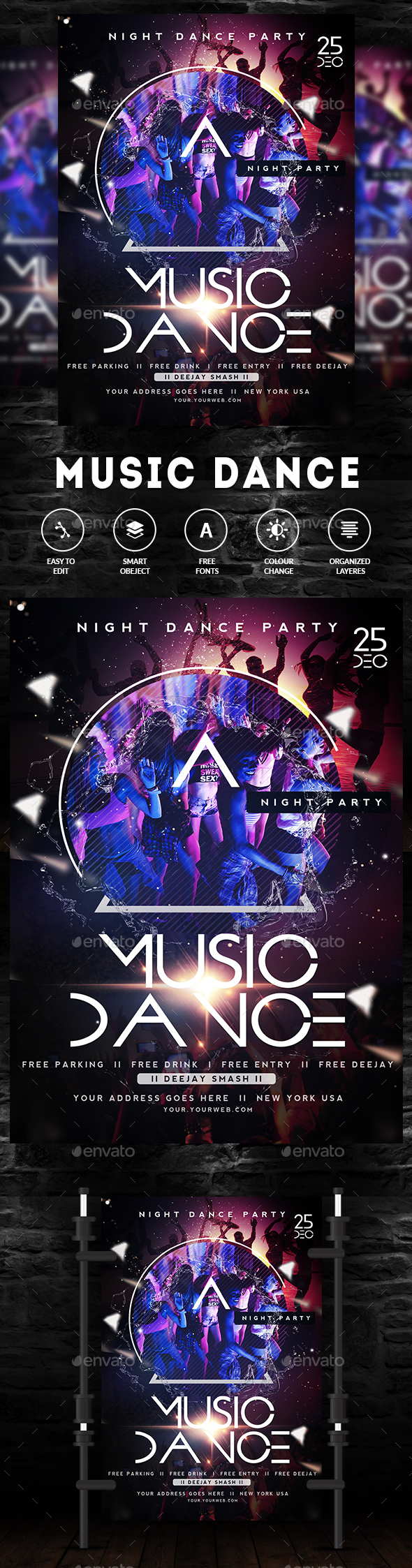 Music Night Party Flyer / Poster - Clubs & Parties Events