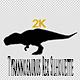 Dinosaur Tyrannosaurus Rex Silhouette, Walk Loop