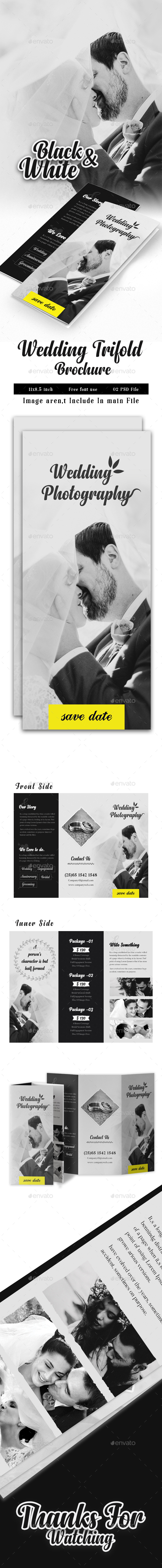 GraphicRiver Wedding Photography Trifold 20896537