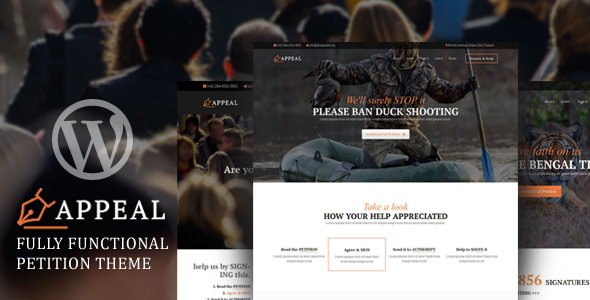 Appeal – Fully Functional Petition Theme - Activism Nonprofit