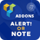Alert/Note - Visual Composer Addon