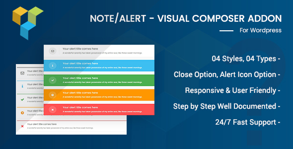 Alert/Note - Visual Composer Addon - CodeCanyon Item for Sale