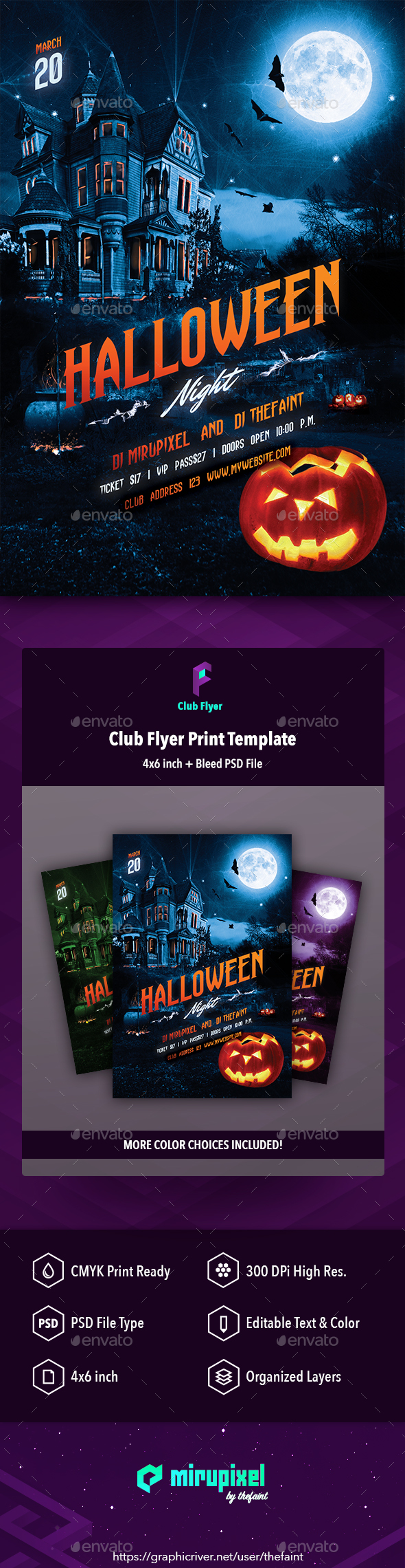 Club Flyer: Halloween Night - Clubs & Parties Events